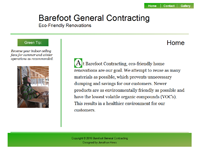 Barefoot General Contracting Logo
